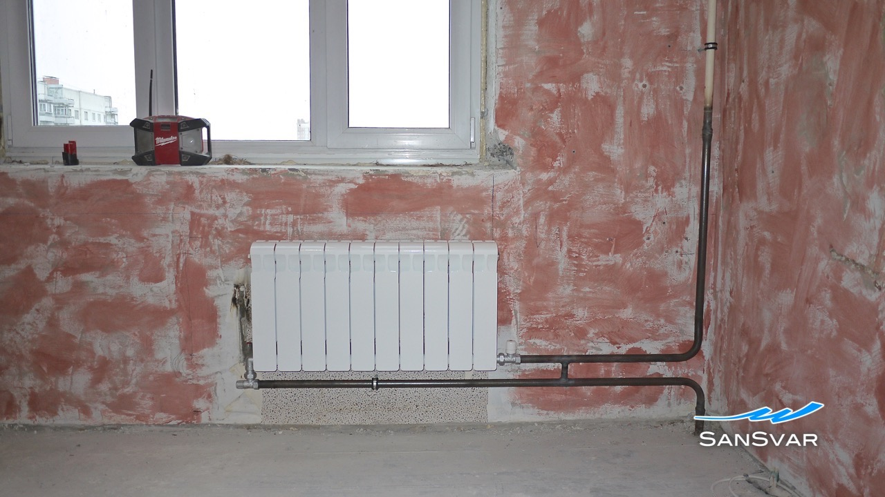 схема работы радиаторов внутри